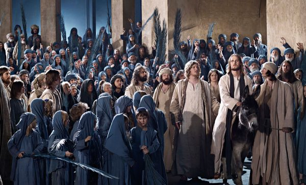 Image of actors in the Passion Play