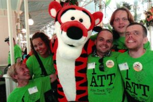 Image of Able Trek travelers with Tigger.