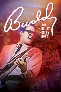 Image of Buddy Holly playing guitar