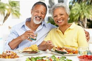 Image of couple dining together