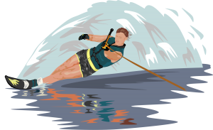 Image of waterskiier