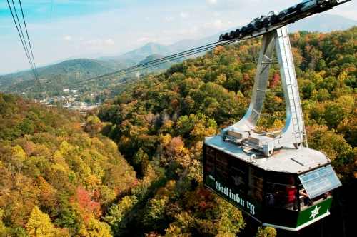 Image of Ober Gatlinburg Aerial Smoky Mountain Tram ride