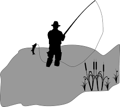 Image of man catching a fish